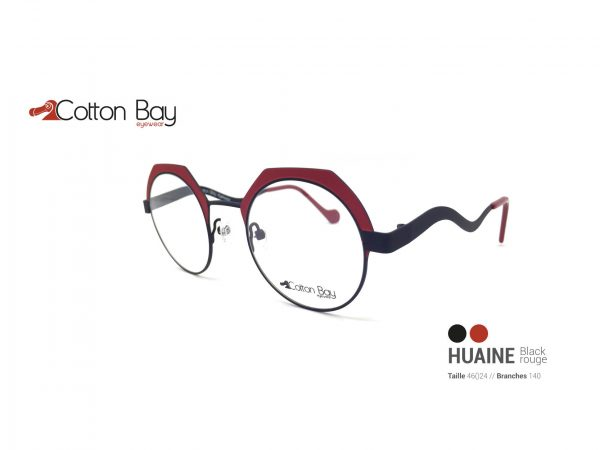 Lunettes Cotton Bay collection Huaine-blackrouge