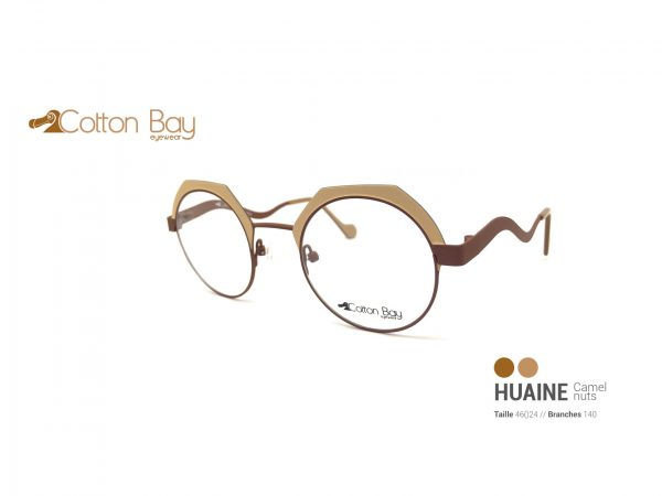 Lunettes Cotton Bay collection Huaine-camel-nuts