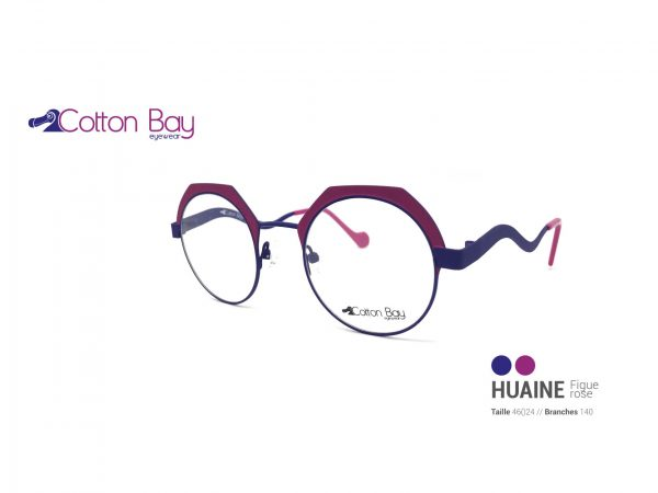 Lunettes Cotton Bay collection Huaine-figue-rose