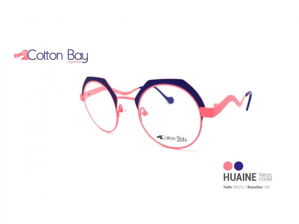 Lunettes Cotton Bay collection Huaine-neon-corail
