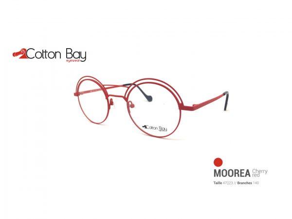 La collection Cotton Bay eyewear sous toutes leurs coutures cherry-red